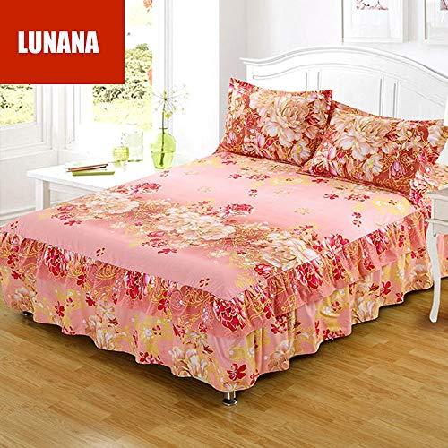 LUNANA beddengoedset tweepersoonsbed met extra hoeslaken vlekbescherming en hypoallergeen beddengoedset - 200x220cm