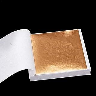 Qians Pegatinas de pared decorativas imitación de papel de oro de 24 K envasado de alimentos belleza papel decorativo de u...