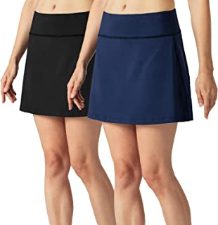 Women's Athletic Skirts Safe Two Layer Sports Skorts for Tennis Golf Running