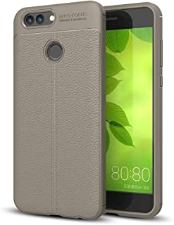 JDYS AYSMG For Huawei nova 2 Litchi Texture Soft TPU Anti-skip Protective Cover Back Case(Black) (Color : Grey)