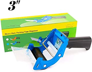 New Improved Design, Packaging Tape Dispenser with Quick Load Feature. Commercial Grade Tape Gun for Tapes Up to 3 Inch Wide. Industrial Durability. Perfect for Sealing Ship, Move, Storage Boxes. (1)