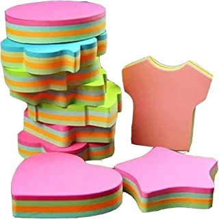 potato & straw Colorful Sticky Notes In 10 Different Shapes, Bundle Pack - 10 Pads 100 Sheets Per Pads (1000 Sheets!)