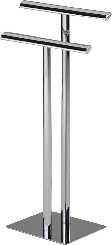 Kings Brand Chrome Metal Modern Free Standing Towel Rack Stand