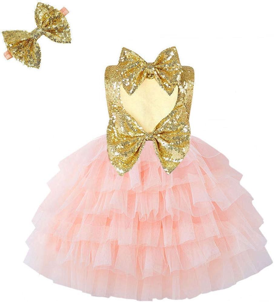 Cilucu Toddlers Heart Max 52% OFF Cutout Dress Sequi Baby Girls Ranking TOP19 Flower