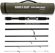 Rigged & Ready Smuggler 7, Travel Rod. 7 Piece, 250cm, 8.2 ft, high Performance, Powerful Nano Carbon Rod with Unbreakable tip, Travelling Fishing Rod and Tube.