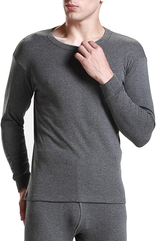 koweis Men Thermal Underwear Suit Ranking Beauty products TOP3 Cotton Round Lon Collar Winter