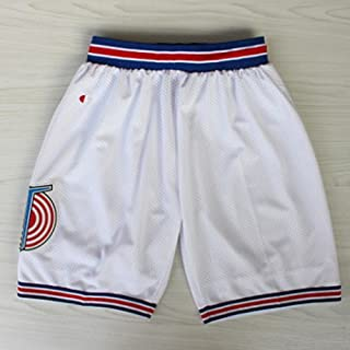 EDTara Basketball Squad Shorts Fashion Short Pants Retro Mesh Cool Shorts Casual Sports White