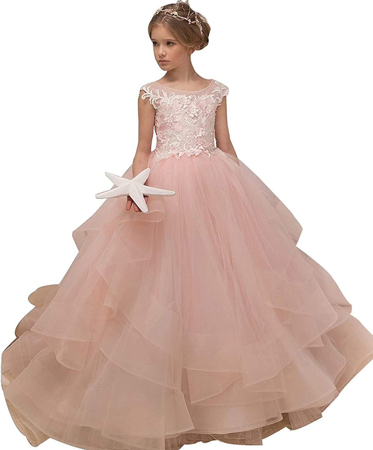 hengyud Pink Toddler Pageant Dresses for Girls Puffy Flower Girls Dress  Ball Gowns