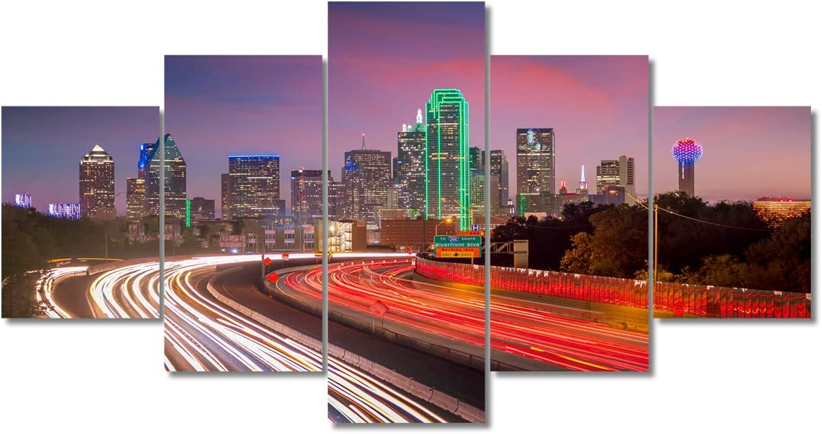 5 Piece Modern City Traffic Trajectory New price products world's highest quality popular Dal Line Wall Optical Art