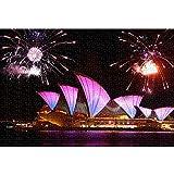 Sydney Opera House Rompecabezas de 1000 Piezas Landscape Puzzle Adulto 1000 Piezas Juguetes de Bricolaje de Entretenimiento en casa para Adolescentes 52x38cm