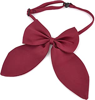 uxcell Adjustable Solid Color Bowknot Halter Neck Bow Tie for Women