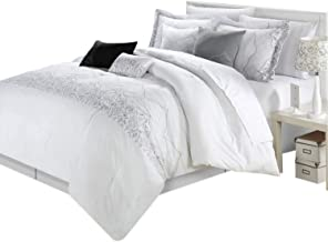 white and silver comforter set