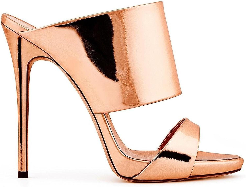 Donna Sexy alto Tacco seali Stiletto pantofola fatto a uomoo Sautope Sbirciare Dito del piede oro argentoo Lavoro Festa Vestito Discoteca , EUR 36  UK 3.5-4