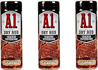 A.1. Dry Rub 4.5 oz (Pack of 3) (Cracked Peppercorn)