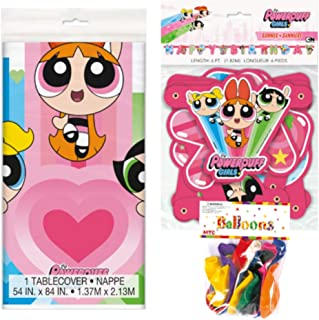 Powerpuff Girls Themed Party Decorations – Includes Party Banner,Tablecloth and Ten 12