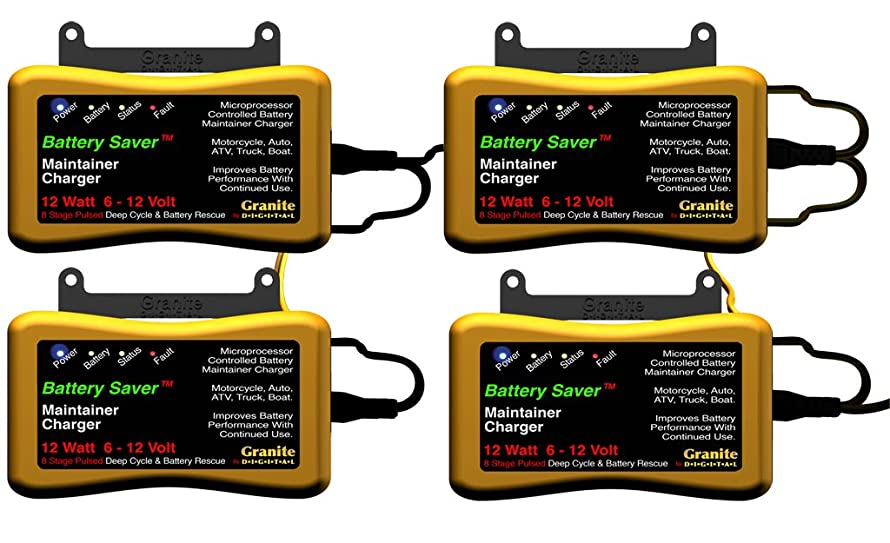 Battery Saver 6259 12W Pulse Battery Maintainer/Charger with Battery Rescue and 20' Extension Cables