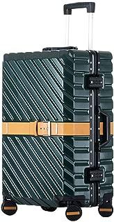 Suitcase, Aluminium Frame 4 Double Silent Wheels TSA Lock,Green,24in