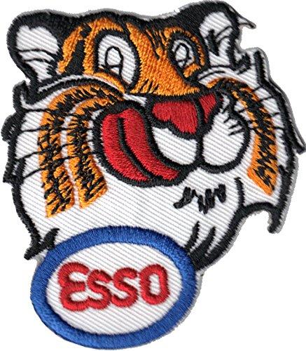 ESSO Tiger Kopf Tankstelle Gasoline Racing Nascar Aufnäher Aufbügler Patch Abzeichen