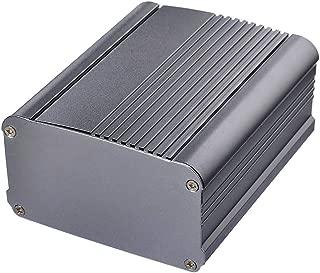 wlaniot DIY Aluminum Project Box Silver Black Extruded Aluminum Enclosure Case Split Body for Electronics 2.17