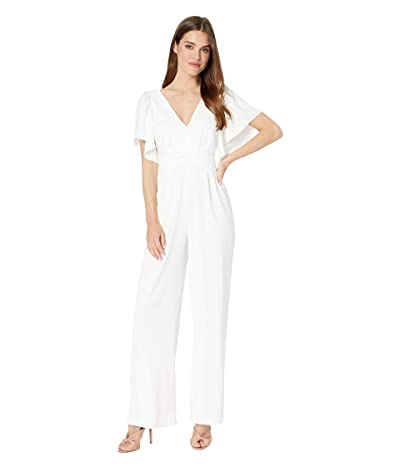 WAYF Lakewood Flutter Sleeve Jumpsuit (Ivory) Women