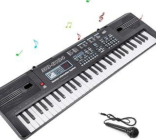 RenFox Piano Keyboard 61-Key Portable Electronic Keyboard Digital Piano Music Keyboard for Kids with Microphone USB Cable ...