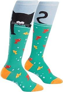 Knee High Funky Socks: Cats and Kitties - Meow