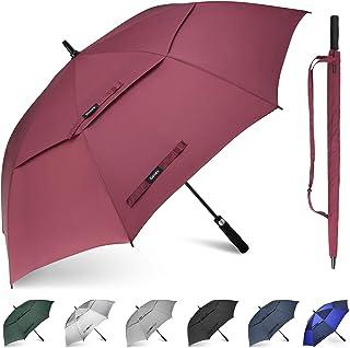 Gonex Parapluie Golf Automatique Plus Grand Anti-UV avec Double auvent Coupe-Vent résistant à l'eau, parapluies ventilés s...