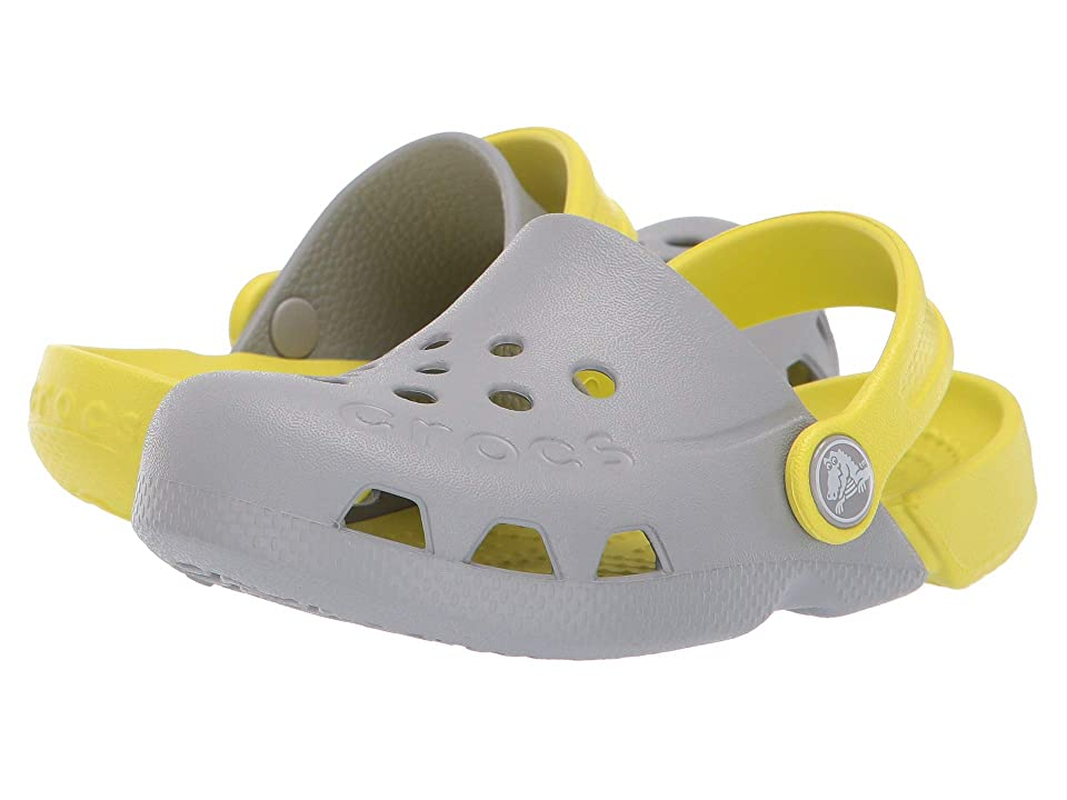 Crocs Kids Electro (Toddler/Little Kid) (Light Grey/Citrus) Kids Shoes