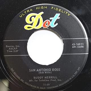 Bob Wlls 45 RPM SAN ANTONIO ROSE / GOIN' AWAY