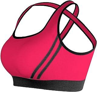 امرأة فتاة الرياضة الصدرية الصليب الجمال مفرغة من الهواء الطلق مزودة بفلتر رياضية مزودة بفلتر النوم,احمر,S