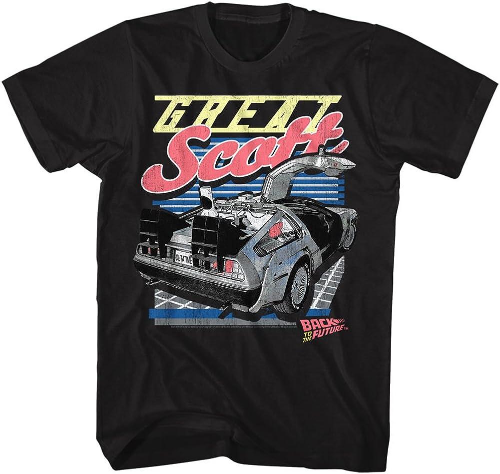 激安価格と即納で通信販売 Back to The Future Men's Scott 有名な Black Great T-Shirt