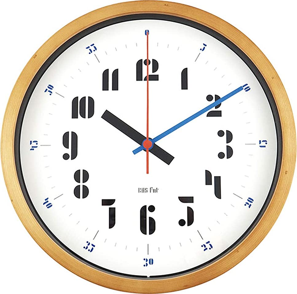 アパートぞっとするようなアーティキュレーションエルコミューン バウハウス 時計 壁掛け Joschmi ブルー WCL-003