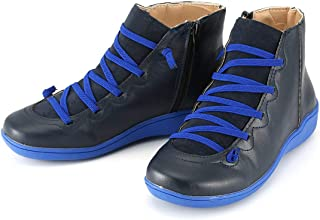 European and American British Plus Size Martin Boots Women Autumn and Winter Casual Flat Boots Sports Dad Shoes - Blue 41