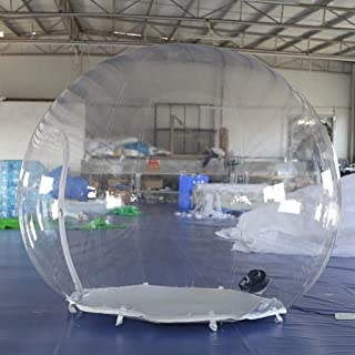 SAYOK Inflatable Crystal Ball Inflatable Bubble Igloo Tent Transparent Dome with Air Blower Inflatable Mall for Advertising Wedding Festival Event Exhibition