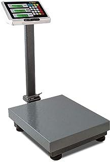 Rhino BAPCA-100 Báscula de Plataforma Plegable de 100 kg / 10 g. Con indicador multifunciones de acero inoxidable con dobl...