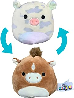 Squishmallows Official Kellytoy Flip a Mallow 5 inch Soft Squishy Stuffed Animal (Rosie Pig/Harry Horse)