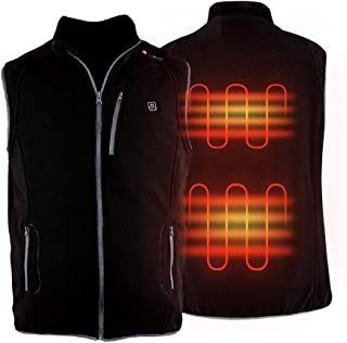 PROSmart Heated Vest Polar Fleece Lightweight Waistcoat with USB Battery Pack for Men and Women (Unisex)