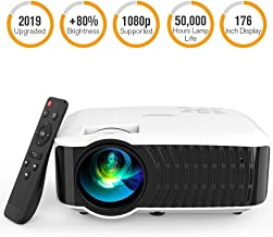 Movie Projector, DBPOWER 120 ANSI LCD Video Projector Free HDMI 176