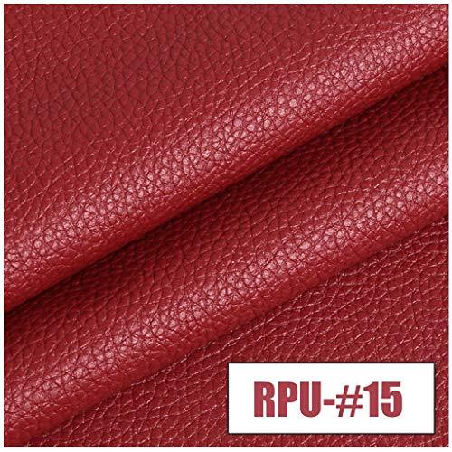 Xia Yuuu Net Kunstlederstoff - Wasserdichtes PVC-Kunstledermaterial - Verkauft Bis Zu Einem Meter Von 100cm (Länge) X 140cm (Feste Breite) - Für Möbel, Sofas, Stühle, Taschen (rot) (Size : 1M)
