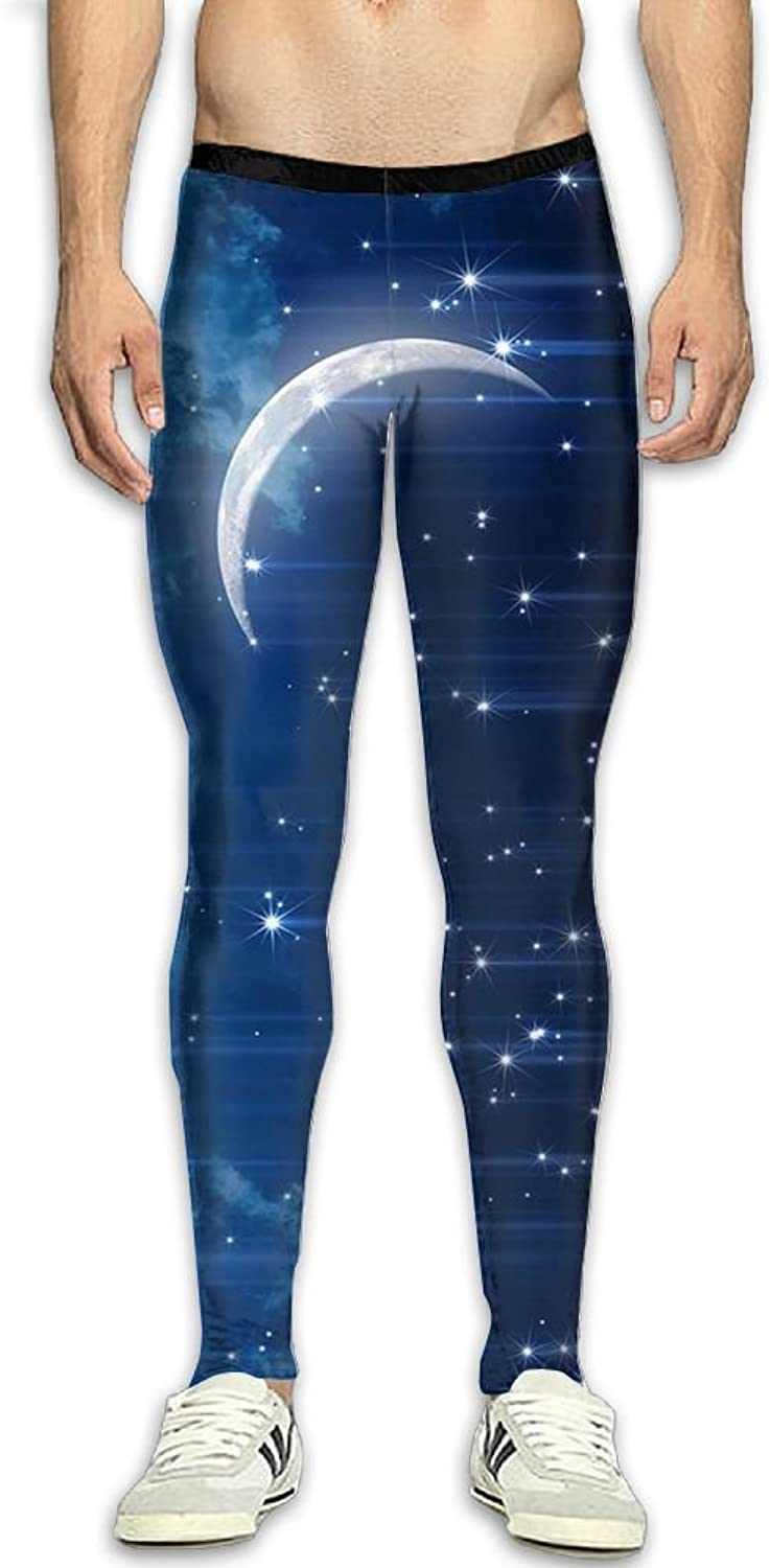 756eadd07e438 Fantasy Moon Compression Pants Long Long Long Tights Sports Workout ...