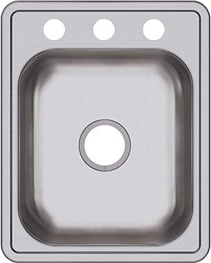 Dayton D117213 Single Bowl Top Mount Stainless Steel Bar Sink