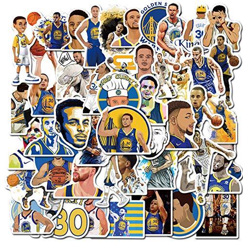 WYZN 50 unids Nba Baloncesto Stephen Star Curry Cartoon Sticker Personalidad Creative Diy Decorativo Notebook Computer Impermeable Vinilo Scooter Graffiti Sticker