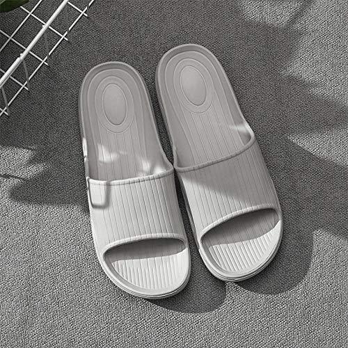 B/H zapatillasdemasajemujer,Sandalias de Masaje para el hogar, Zapatillas Antideslizantes para Interiores-Gris_42-43,Zapatillasdemasajeunisex