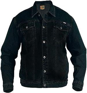 Duke Rockford Mens Big King Size Large Denim Jeans Trucker Jacket Classic Western Style Coat Top