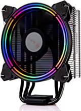 GOLDEN FIELD PBZ8 CPU Cooler Air Cooling Fan Heastink with 4 Heatpipes & 120mm LED Fan for Computer PC Case Radiator Intel LGA1151/1150/1155/1156 & AMD AM4