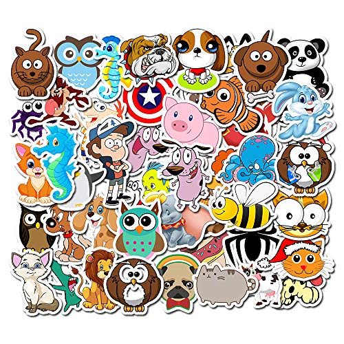 Skateboard Gepäck Aufkleber 50Pcs Cute Little Animal Sticker Koffer Trolley Decor Graffiti Decor