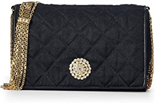 CHANEL Black Quilted Satin Full Flap (Pre-Owned)