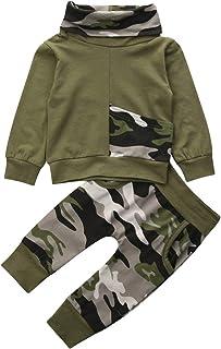 Vestiti da Bambino con Cappuccio e Pantaloni Lunghi Motivo Mimetico Hnyenmcko