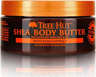Tree Hut 24 Hour Intense Hydrating Shea Body Butter Hawaiian Kukui, 7oz, Hydrating Moisturizer with Pure Shea Butter for Nourishing Essential Body Care
