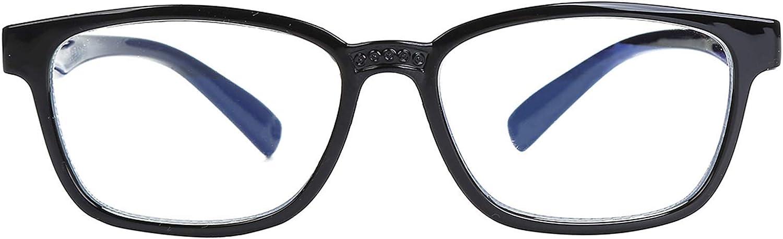 Kids Blue Light Blocking Glasses, Computer Gaming Glasses for Girls & Boys Prevent Myopia (3-12 Years) (Black)